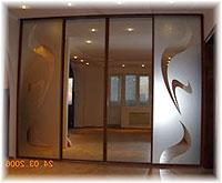 двери купе с пескоструйным рисунком